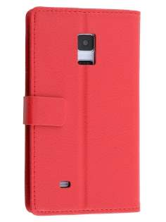 Synthetic Leather Wallet Case with Stand for Samsung Galaxy Note Edge - Red Leather Wallet Case