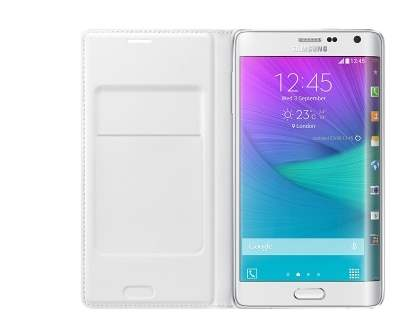 Genuine Samsung Galaxy Note Edge Flip Wallet - Pearl White