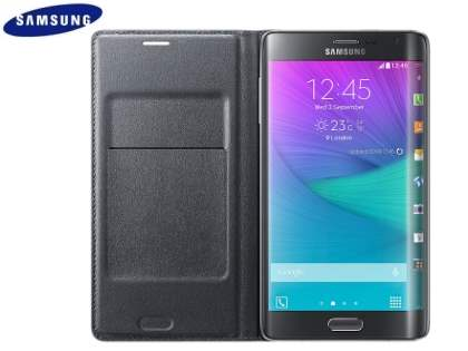 Genuine Samsung Galaxy Note Edge Flip Wallet - Charcoal
