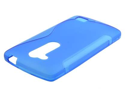 Wave Case for LG L Fino - Frosted Blue/Blue Soft Cover