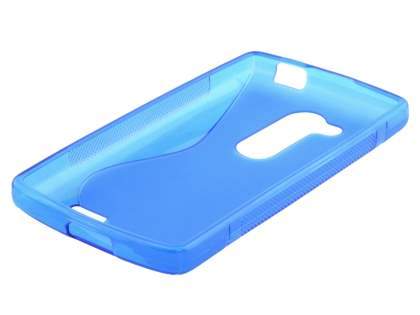 Wave Case for LG L Fino - Frosted Blue/Blue
