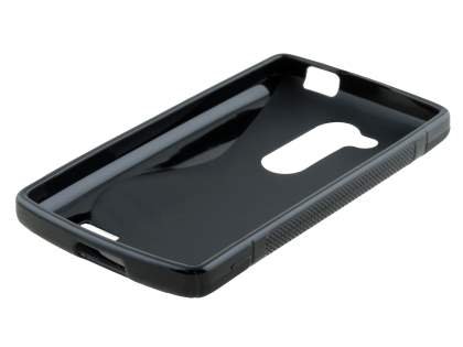 LG L Fino Wave Case - Frosted Black/Black