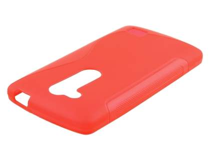 Wave Case for LG L Fino - Frosted Red/Red Soft Cover