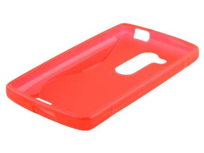 Wave Case for LG L Fino - Frosted Red/Red