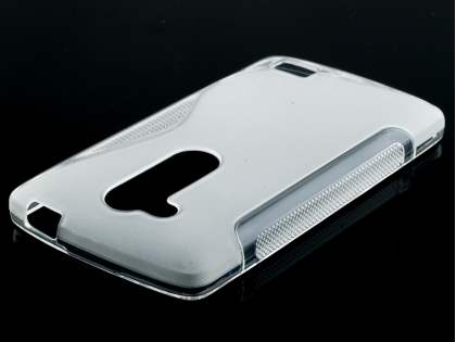 Wave Case for LG L Fino - Frosted Clear/Clear Soft Cover