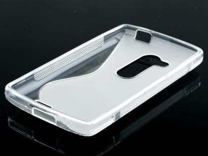Wave Case for LG L Fino - Frosted Clear/Clear