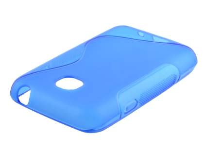 LG L20 Wave Case - Frosted Blue/Blue