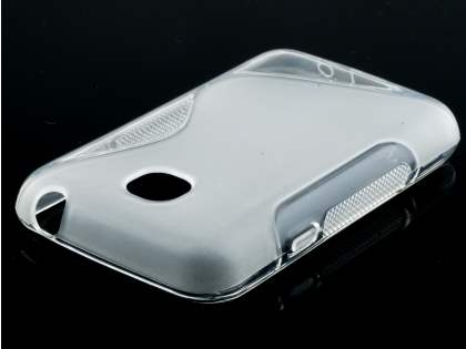 Wave Case for LG L20 - Frosted Clear/Clear Soft Cover