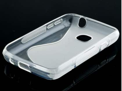 Wave Case for LG L20 - Frosted Clear/Clear