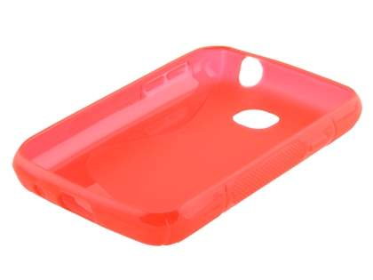 Wave Case for LG L20 - Frosted Red/Red