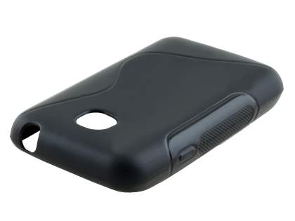 Wave Case for LG L20 - Frosted Black/Black Soft Cover