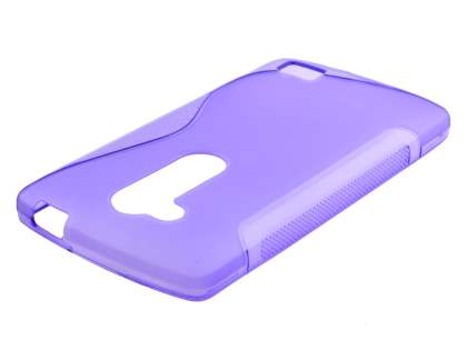 Wave Case for LG L Fino - Frosted Purple/Purple Soft Cover