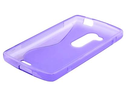 Wave Case for LG L Fino - Frosted Purple/Purple