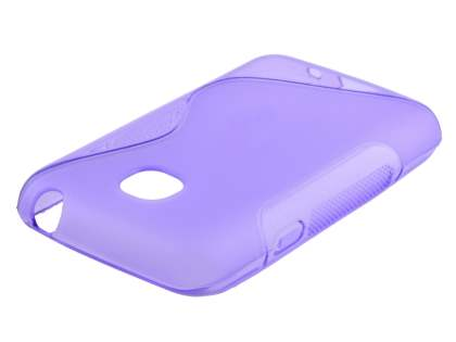 Wave Case for LG L20 - Frosted Purple/Purple Soft Cover