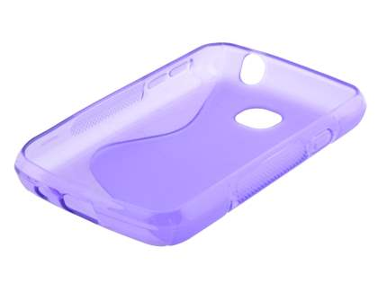Wave Case for LG L20 - Frosted Purple/Purple