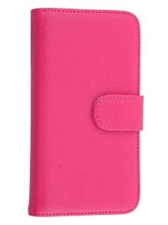 Synthetic Leather Wallet Case with Stand for Motorola Moto G 2nd Gen - Pink Leather Wallet Case