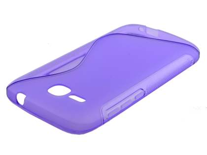 Wave Case for Huawei Ascend Y600 - Frosted Purple/Purple
