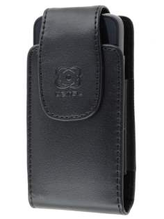 Nokia X6 Synthetic Leather Belt Pouch - Classic Black