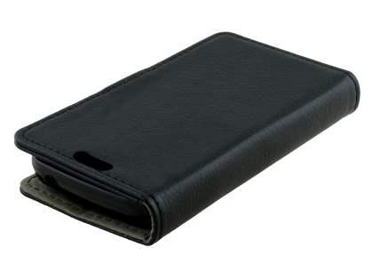 Synthetic Leather Wallet Case with Stand for Samsung Galaxy Ace 3 4G S7275T - Classic Black