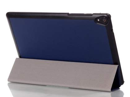 Premium Slim Synthetic Leather Flip Case with Stand for HTC Nexus 9 - Night Blue Leather Flip Case