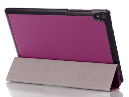 Premium Slim Synthetic Leather Flip Case with Stand for HTC Nexus 9 - Purple Leather Flip Case