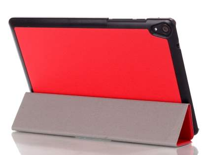 Premium Slim Synthetic Leather Flip Case with Stand for HTC Nexus 9 - Red Leather Flip Case