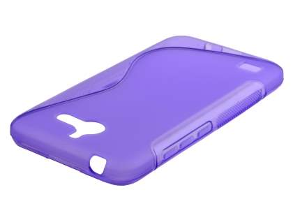 Wave Case for Huawei Ascend Y550 - Frosted Purple/Purple Soft Cover