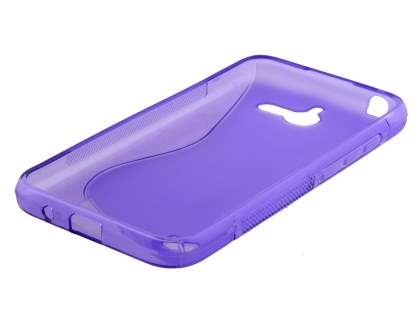 Huawei Ascend Y550 Wave Case - Frosted Purple/Purple