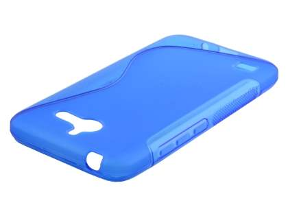Wave Case for Huawei Ascend Y550 - Frosted Blue/Blue Soft Cover