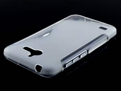 Wave Case for Huawei Ascend Y550 - Frosted Clear/Clear Soft Cover
