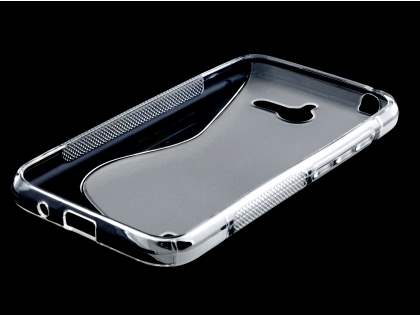 Huawei Ascend Y550 Wave Case - Frosted Clear/Clear