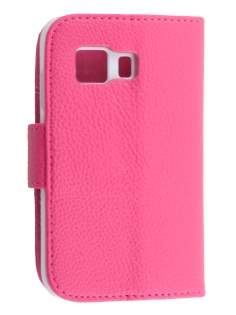 Synthetic Leather Wallet Case with Stand for Samsung Galaxy Young 2 - Pink Leather Wallet Case