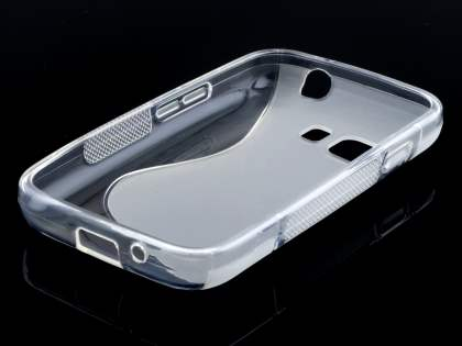Samsung Galaxy Young 2 Wave Case - Frosted Clear/Clear