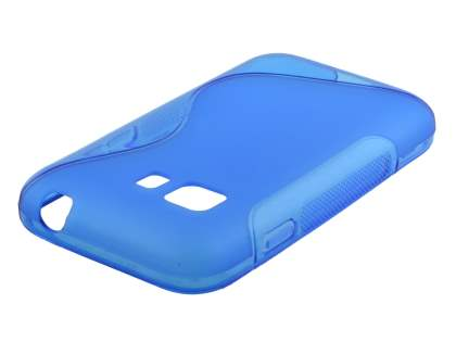 Wave Case for Samsung Galaxy Young 2 - Frosted Blue/Blue Soft Cover