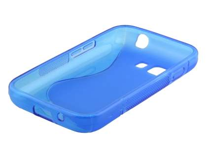 Wave Case for Samsung Galaxy Young 2 - Frosted Blue/Blue
