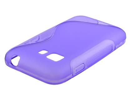 Wave Case for Samsung Galaxy Young 2 - Frosted Purple/Purple Soft Cover
