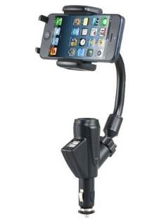 Dual USB Port Car Charger Holder
