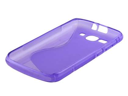 Huawei Ascend Y520 Wave Case - Frosted Purple/Purple