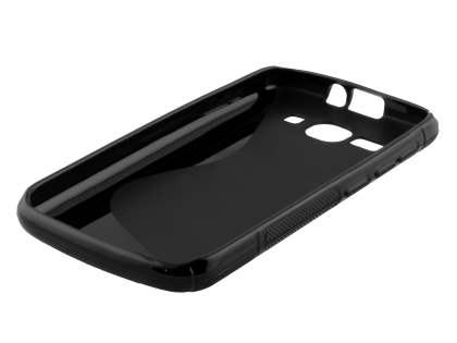 Wave Case for Huawei Ascend Y520 - Frosted Black/Black