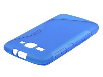 Wave Case for Huawei Ascend Y520 - Frosted Blue/Blue Soft Cover