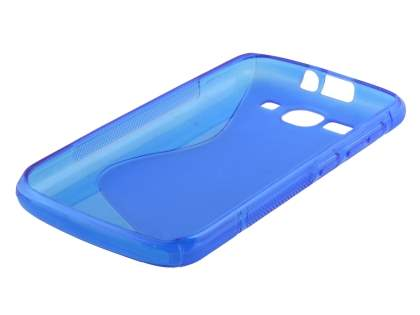 Huawei Ascend Y520 Wave Case - Frosted Blue/Blue