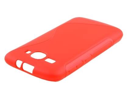 Wave Case for Huawei Ascend Y520 - Frosted Red/Red Soft Cover