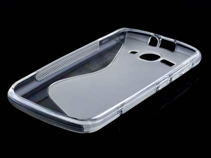 Huawei Ascend Y520 Wave Case - Frosted Clear/Clear