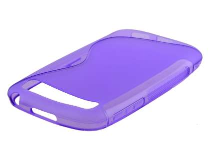 Wave Case for BlackBerry Classic Q20 - Frosted Purple/Purple Soft Cover