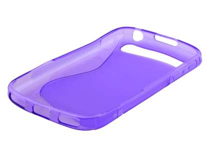 Wave Case for BlackBerry Classic Q20 - Frosted Purple/Purple