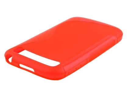 Wave Case for BlackBerry Classic Q20 - Frosted Red/Red Soft Cover
