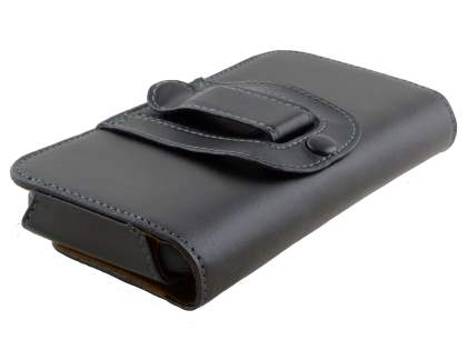 Extra-tough Genuine Leather ShineColours belt pouch - Classic Black