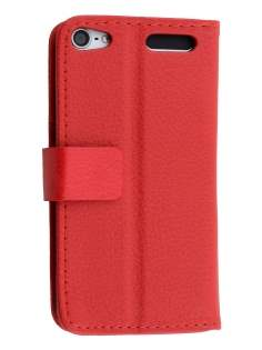 Synthetic Leather Wallet Case with Stand for iPod Touch 5/6 - Red Leather Wallet Case