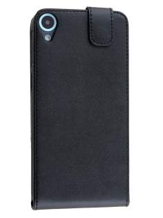 Synthetic Leather Flip Case for HTC Desire 820 - Classic Black Leather Flip Case
