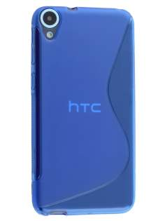 Wave Case for HTC Desire 820 - Frosted Blue/Blue Soft Cover